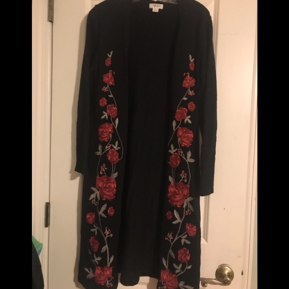 Style & Co Sweaters - Long black cardigan